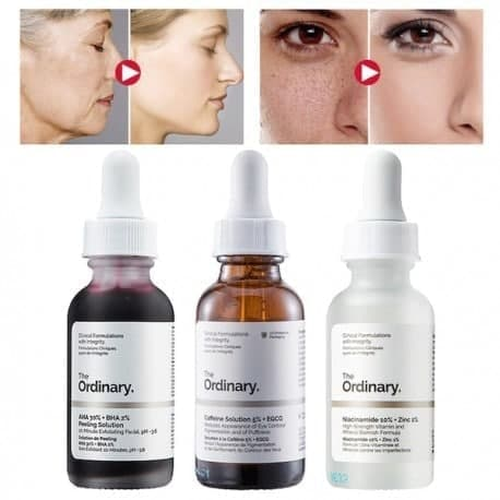تصویر فروش ویژه پک معجزه گر ۳ عددی سرم درمانی و ضد جوش اوردینری The Ordinary 3-1 fl oz