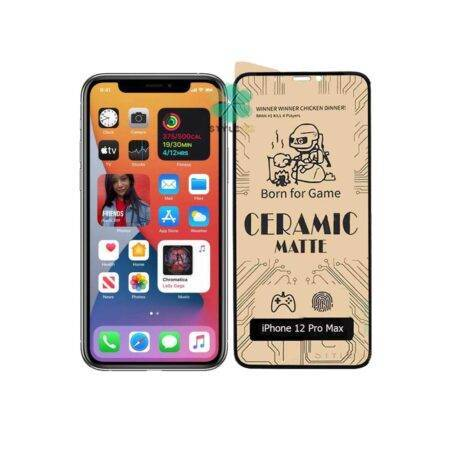 image گلس سرامیکی مات گوشی اپل آیفون Apple iPhone 12 Pro Max Matte Ceramic Film 9D Screen Protector for Apple iPhone 12 Pro Max