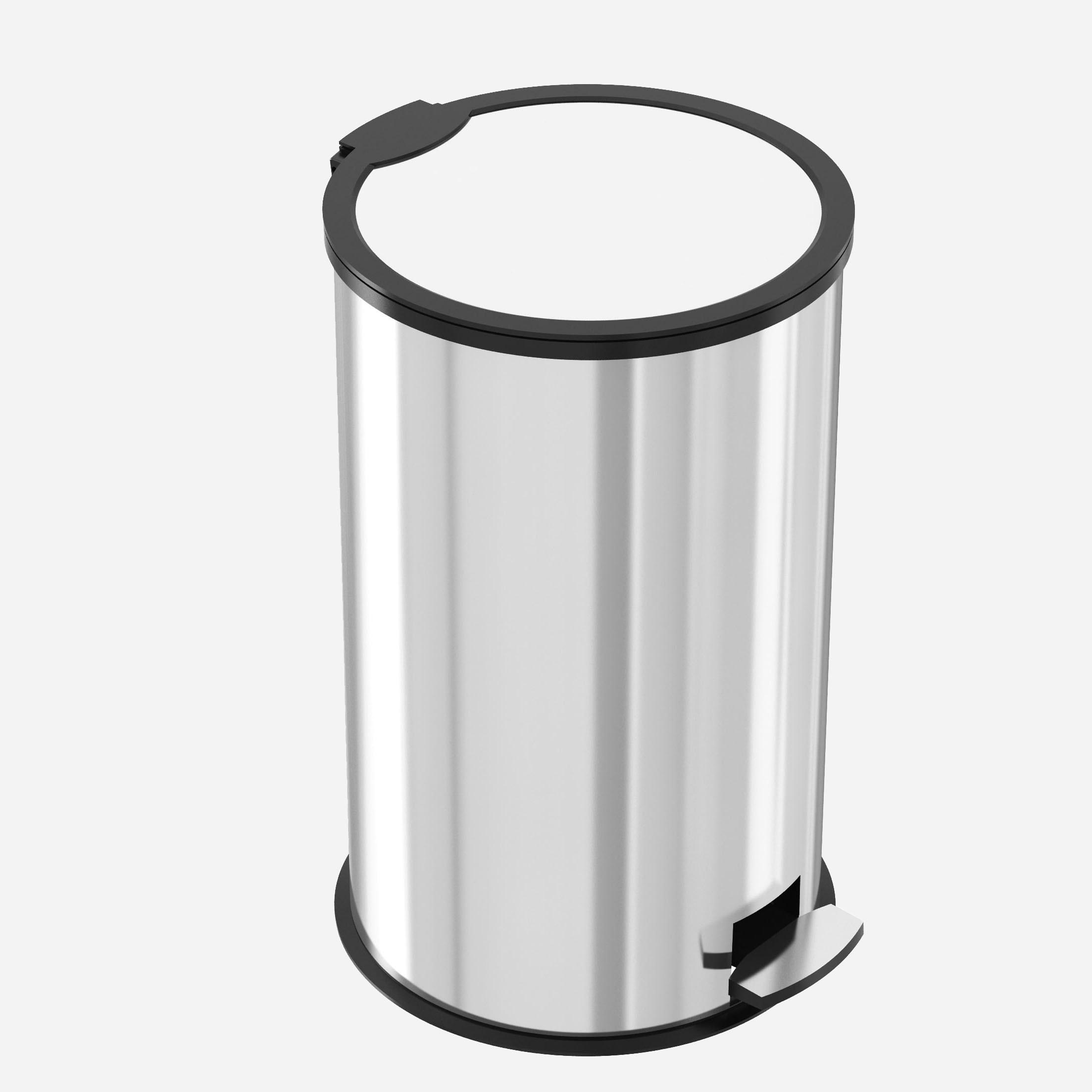 تصویر سطل زباله پدال دار استیل آکا الکتریک 30لیتر