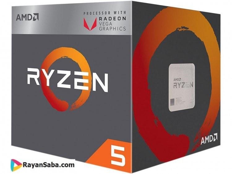 پردازنده ای ام دی Ryzen 5 2400G   AMD Ryzen 5 2400G AM4 Processor