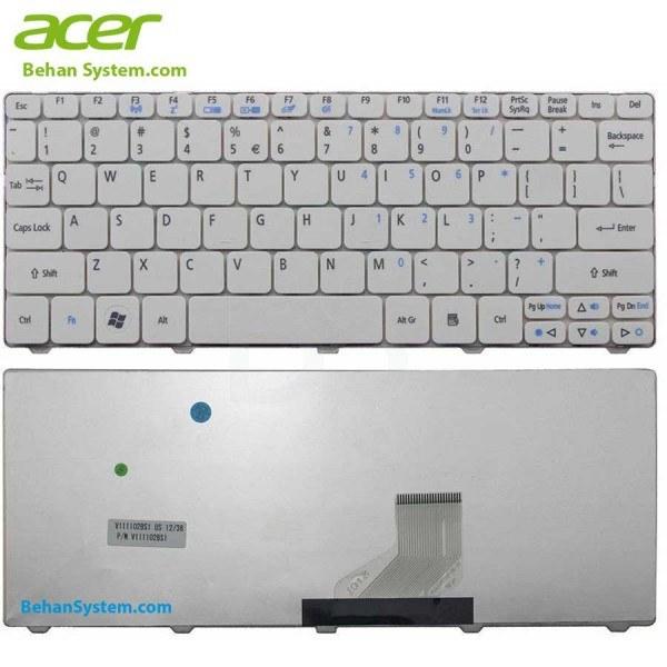 تصویر کیبورد لپ تاپ Acer مدل Aspire One D260 ا به همراه لیبل کیبورد فارسی جدا گانه به همراه لیبل کیبورد فارسی جدا گانه
