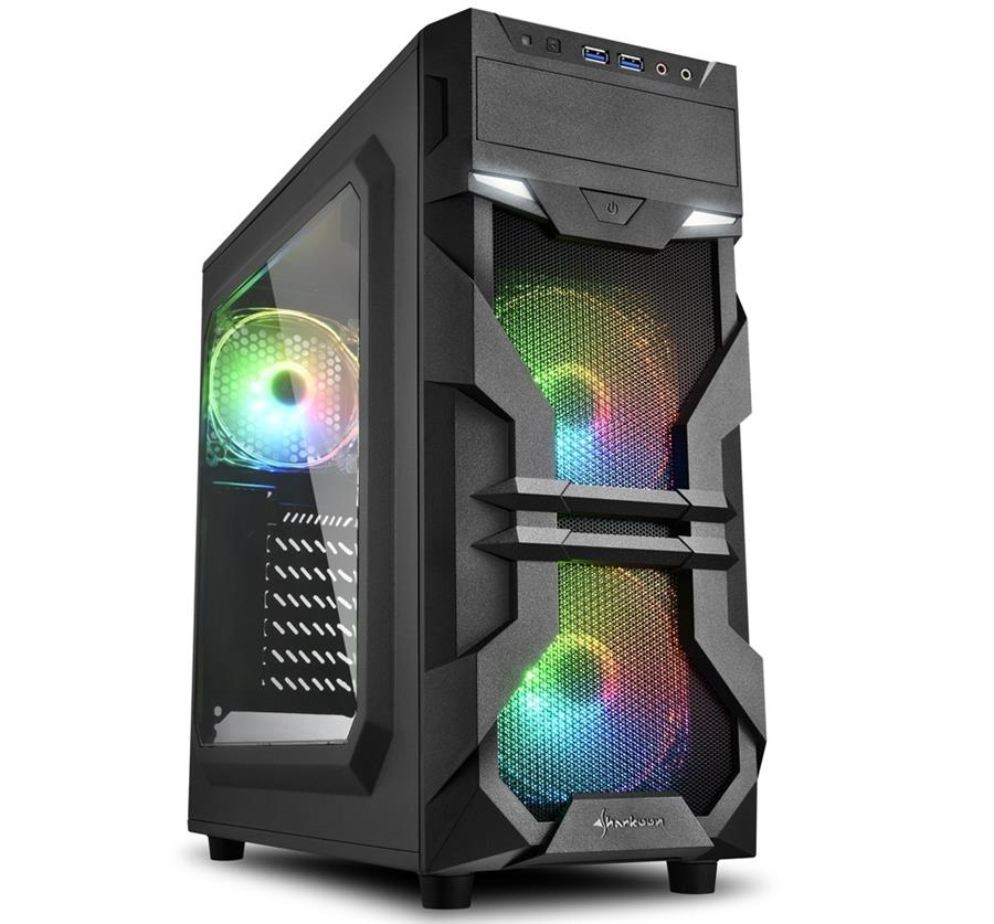 تصویر کیس شارکن مدل VG7-W RGB Sharkoon VG7-W RGB ATX Midi Tower Case