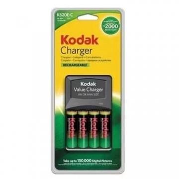 تصویر خرید شارژر باتری قلمی Kodak K620E-C به همراه چهار باتری قلمی Kodak K620E-C Battery Charger with 4 AA Batteries