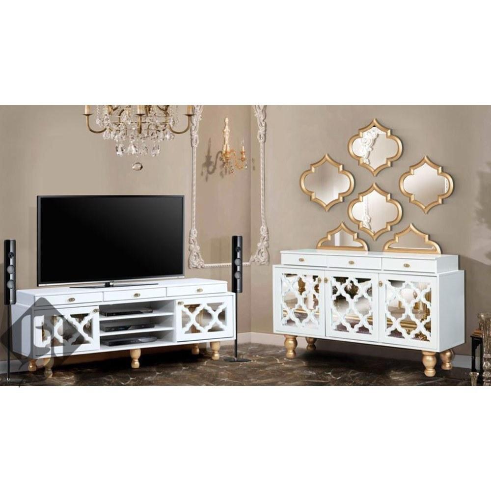 کنسول آینه و میز ال سی دی مدل تندیس