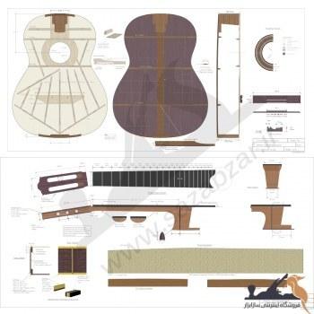 نقشه کامل گیتار کلاسیک john bogdanvich |