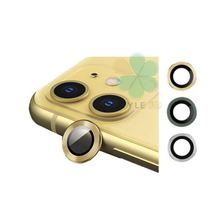 تصویر گلس محافظ لنز دوربین گوشی اپل آیفون Apple iPhone 12 Mini مدل دور فلزی Camera Lens Metal Glass Screen Protectors for Apple iPhone 12 Mini