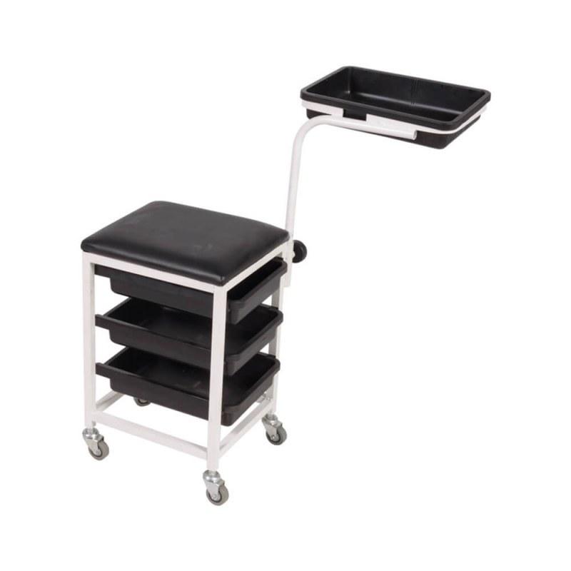 تصویر میز ترولی پدیکور صنعت نواز مدل SN-2011 Industrial hairdressing trolley table model SN-2011