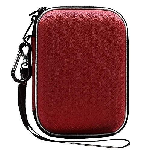 تصویر کیف حمل شوک لکدو EVA برای Western Digital My Passport Studio موارد فوق العاده باریک و ضروری WD عناصر WD SE 1TB 2TB 4TB 5TB USB 3.0 قابل حمل درایو دیسک سخت قابل حمل ، ذخیره سازی مورد بزرگ ، اندازه بزرگ قرمز