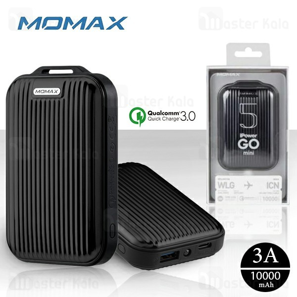 پاوربانک 10000 مومکس Momax IP58 iPower GO mini 5 Power Bank فست شارژ QC3.0