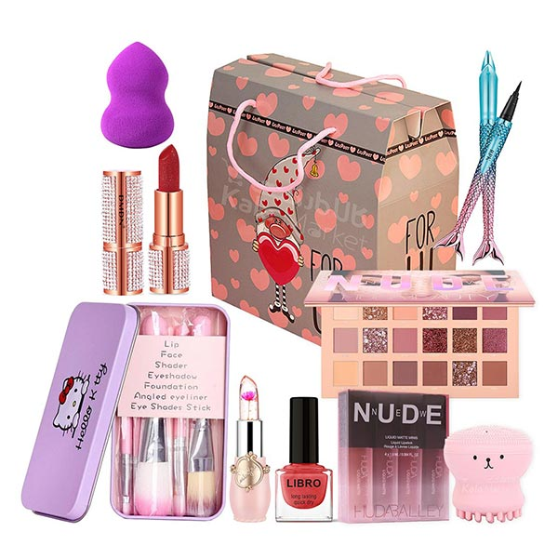 image پک هدیه کد۱ ویژه لوازم آرایش مخصوص ولنتاین، روز مادر و روز زن (Cosmetics Gift Pack for Valentine & Mother's Day & Women Day)