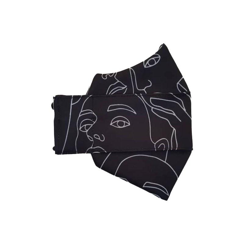 تصویر ماسک پارچه ای سه بعدی طرح چهره
