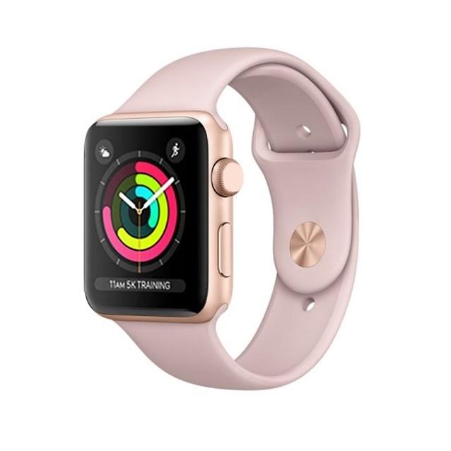 تصویر ساعت هوشمند اپل واچ 3 سایز 38 مشکی ا