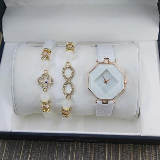 ست ساعت دستبند مشکی جنوا
