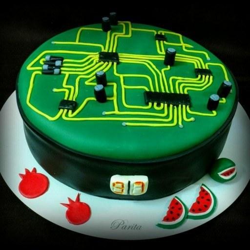 کیک تولد مهندس الکترونیک |