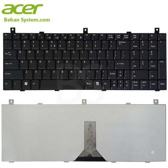 تصویر کیبورد لپ تاپ Acer مدل Aspire 1804 به همراه لیبل کیبورد فارسی جدا گانه