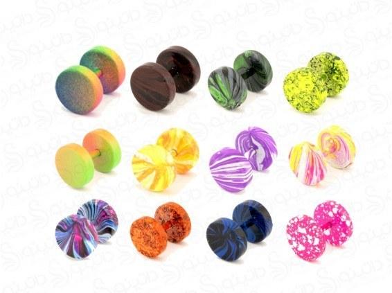 پیرسینگ رنگی گوش طرح آبنباتی zarrin-p-82