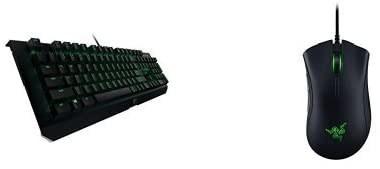 تصویر Razer BlackWidow X Chroma، Clicky RGB صفحه کلید مکانیکی بازی، ساخت و ساز فلزی نظامی - Razer Green Switches Razer BlackWidow X Ultimate - Backlit Compact Metal Mechanical Gaming Keyboard + Deathadder Elite Gaming Mouse Combo