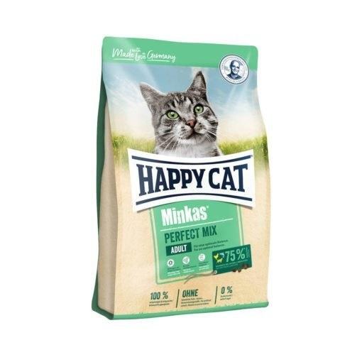 غذای خشک گربه بالغ، حاوی مرغ، بره و ماهی، ۴ کیلوگرمی، مدل مینکاس، برند هپی کت |