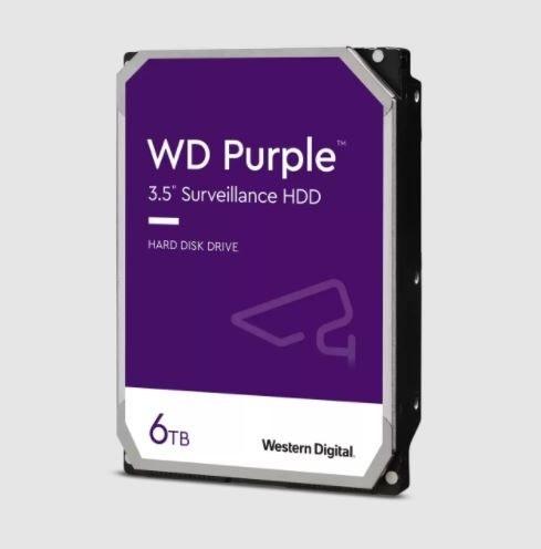 تصویر هارد اینترنال وسترن دیجیتال Purple 6TB 64MB Buffer Purple 6TB 64MB Buffer