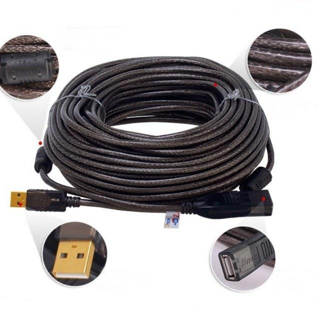 تصویر افزایش طول 25 متری USB دیتک مدل DTECH DT-5042 USB  Extension Cable 25 Meter