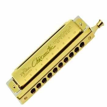 ساز دهنی کروماتیک10 سوراخ طلایی مدل SWAN 1040
