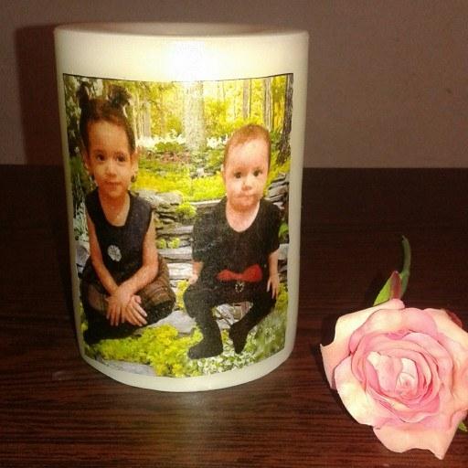 شمع تصویری   دوس دارین عکس خانوادگیتون روی شمع چاپ بشه یا یک عکس عاشقانه و نور شمع بتابه
