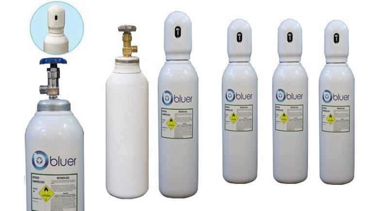 تصویر کپسول اکسیژن 5 لیتری فولادی