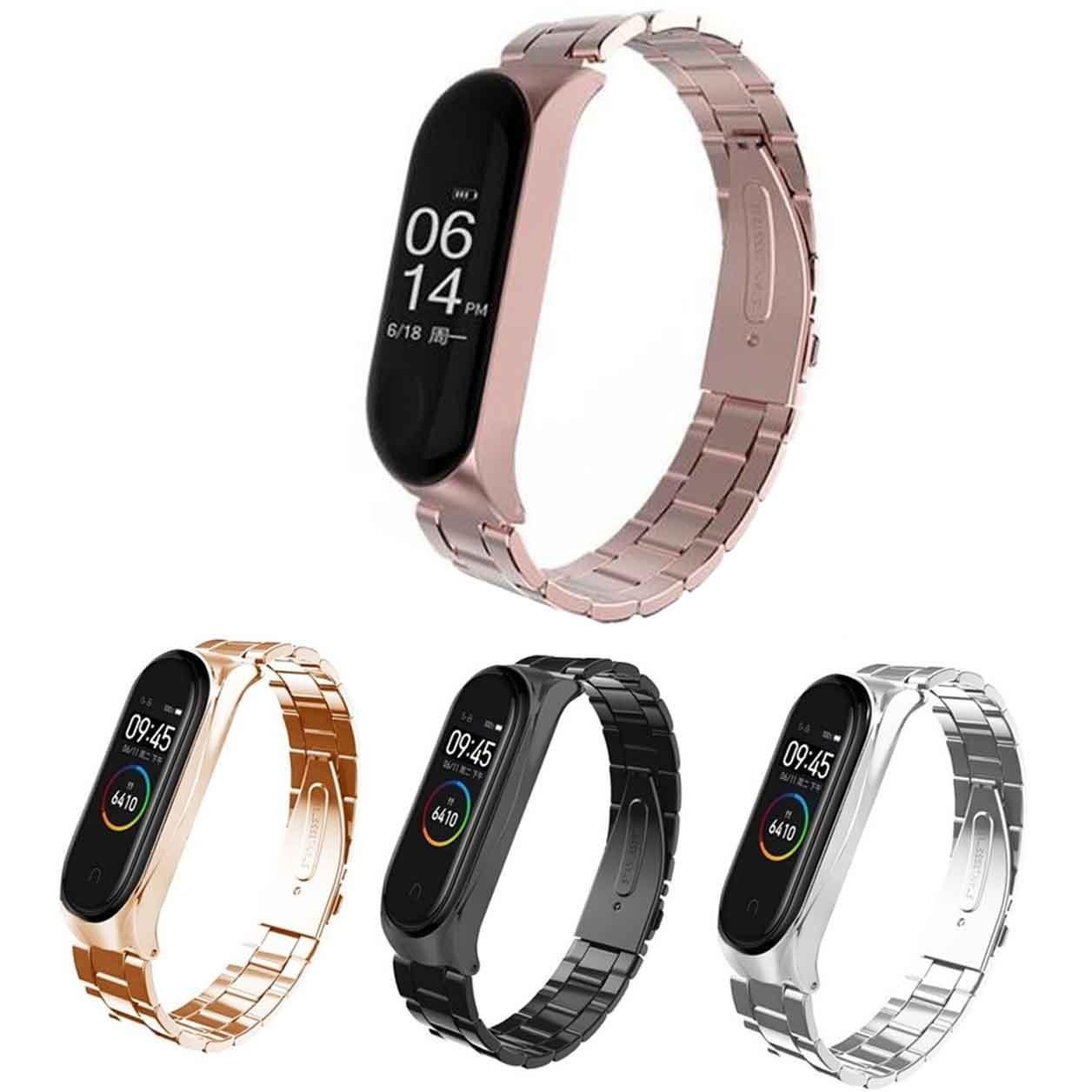 بند استیل شیائومی Xiaomi 3Point Strap Stainless Steel WatchBand | Mi Band 4 |