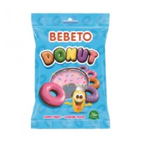 تصویر پاستیل ببتو دسر مدل دونات Bebeto Doughnut Gummy Candy