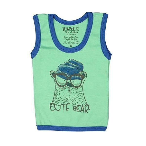 تی شرت پسرانه آستین حلقه ای زانکو طرح خرس بامزه
