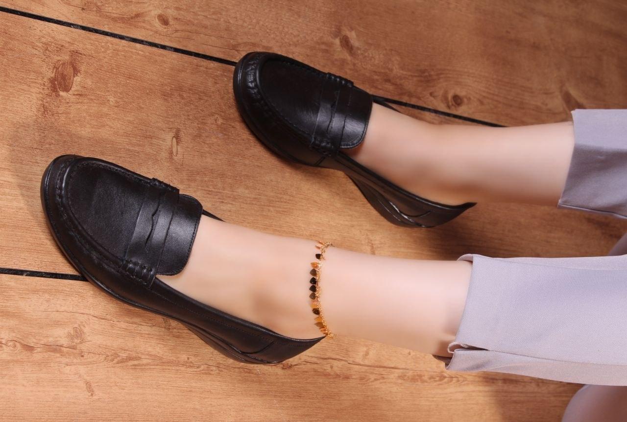 کفش چرم زنانه مدل آراسته