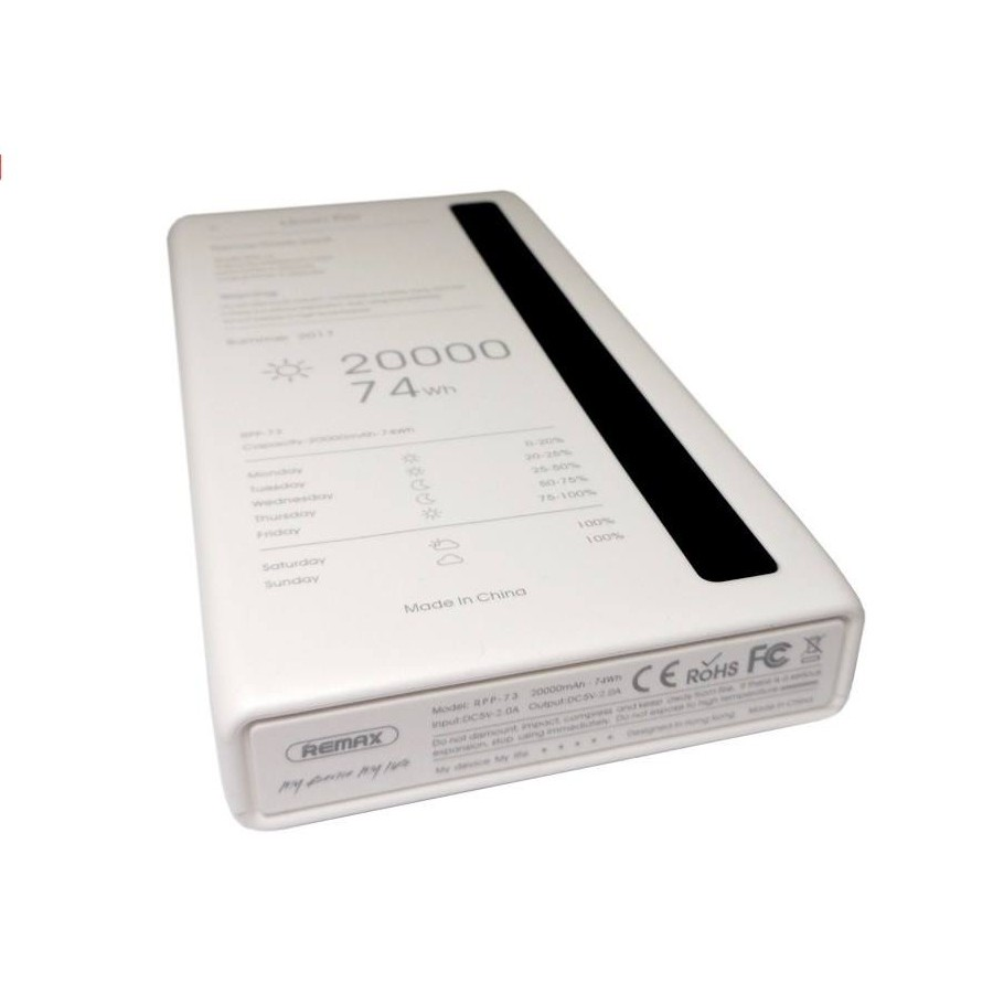 تصویر شارژر همراه ریمکس مدل RPP-73 Linon Pro ظرفیت 20000 میلی آمپر ساعت Linon Pro Power Bank 20000mAh RPP-73 - REMAX