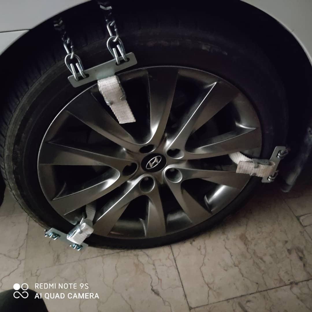 تصویر زنجیر چرخ کمربندی فلزی