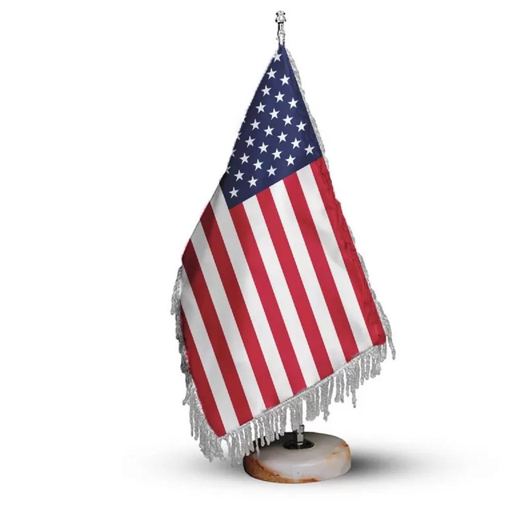 تصویر پرچم تشریفات و رومیزی کشور آمریکا کد P1112