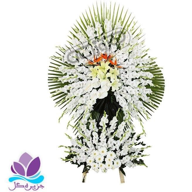تصویر تاج گل ترحیم 1.5 طبقه 2متری جزیره گل