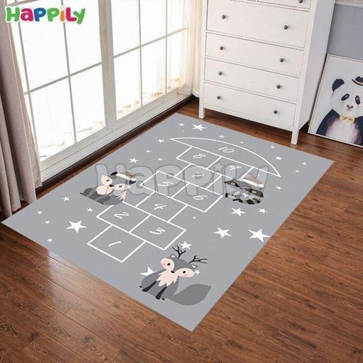 تصویر فرش اتاق کودک طرح لی لی 51022