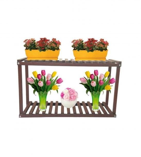 استند چوبی گل و گلدان مدل s3