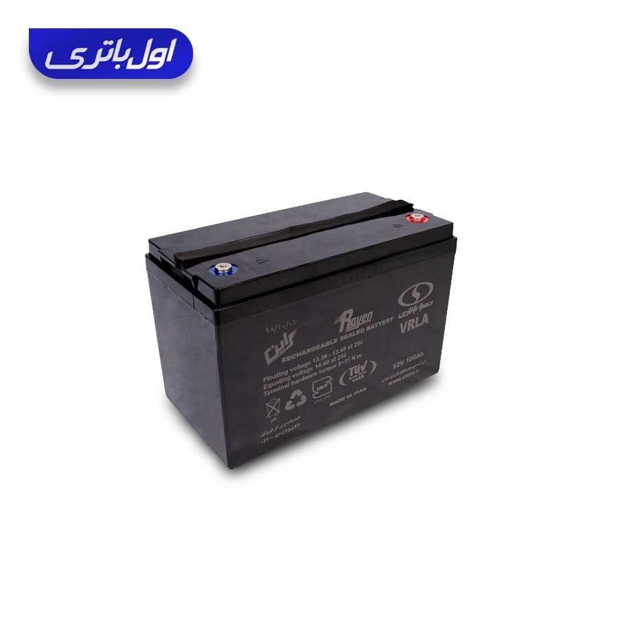 تصویر باتری ups (یو پی اس) ۱۲ ولت ۱۰۰ آمپر صبا باتری