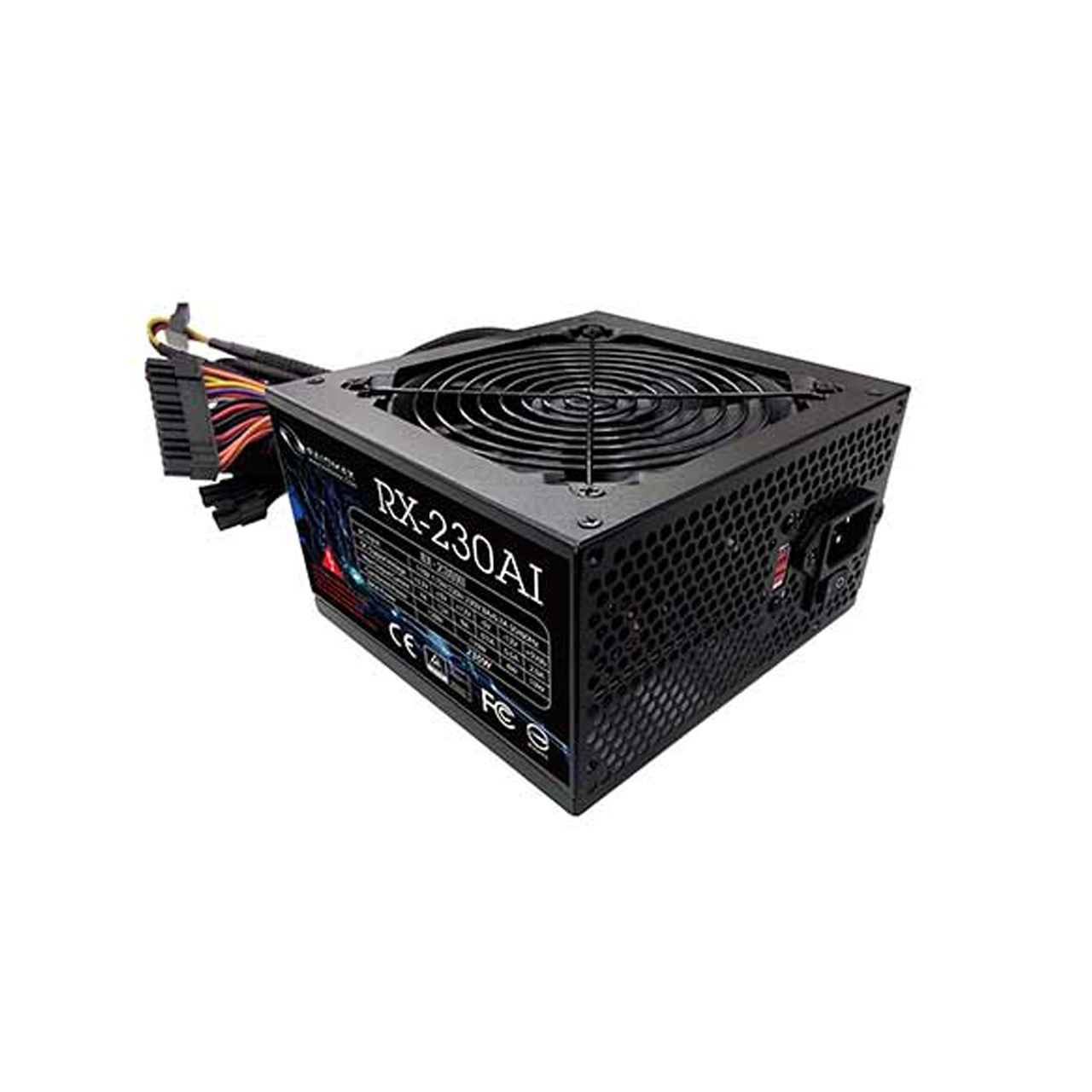 تصویر منبع تغذیه کامپیوتر ریدمکس مدل RAIDMAX POWER RX-230AI