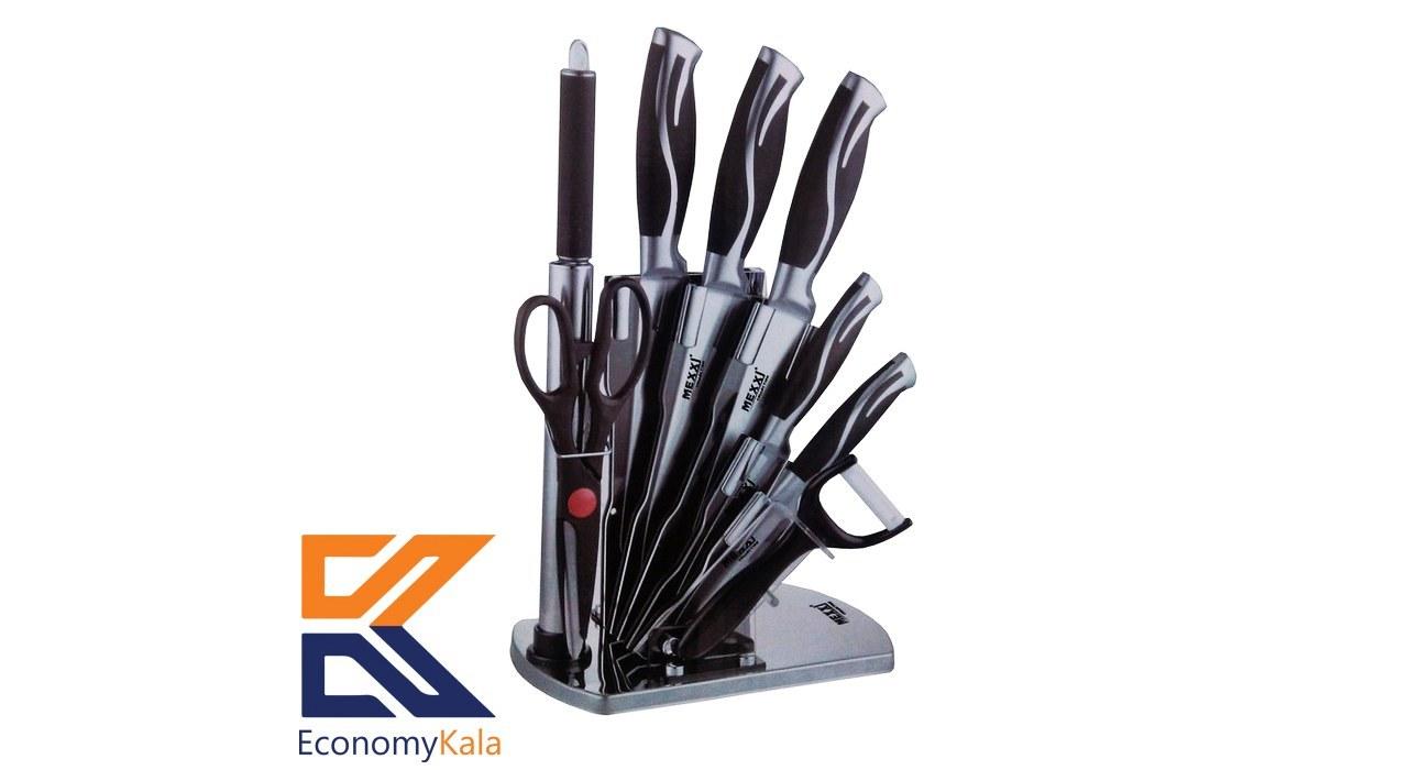 تصویر سرویس چاقو آشپزخانه ۹ پارچه مکسی مدل KS-044