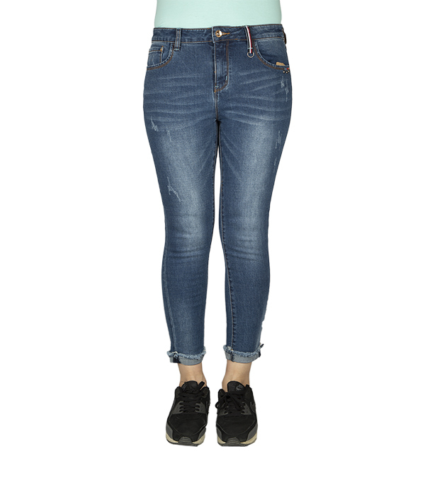 شلوار جین کوتاه زنانه زاپ دار جین وست Jeanswest