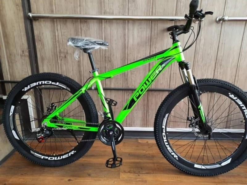 تصویر دوچرخه پاور سایز 26 تنه آلومینیوم کد 2610 - POWER