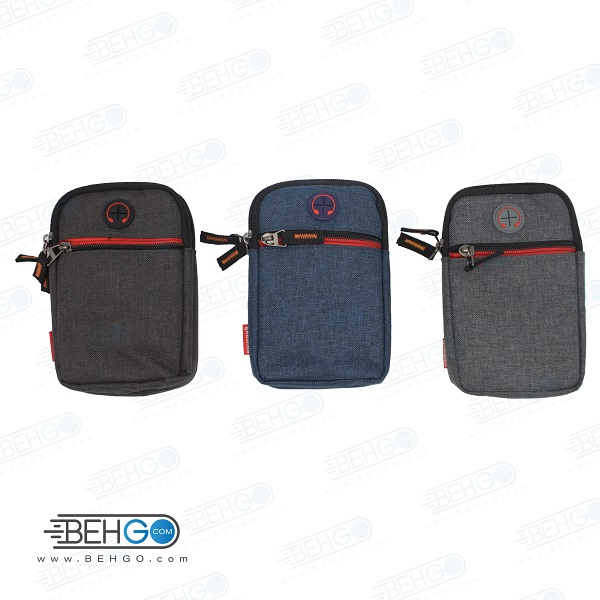 کیف موبایل ، لوازم و کیف پاور بانک مدل گائولما جی 212 کیف گردنی ،دوشی و کمری با خروجی هندسفری Gaolema G212 Mobile Accessories Bag with handsfree output