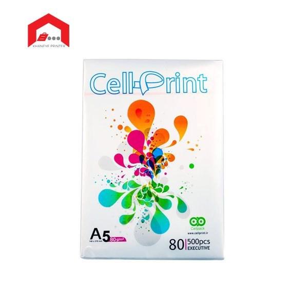 تصویر کاغذ A5 سل پرینت بسته 500 برگی Cell print A5 paper