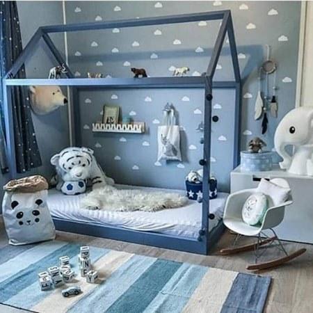 تخت کلبه ای کودک کد 14