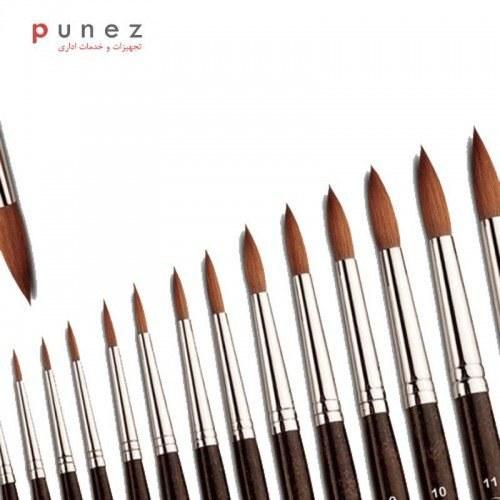 قلم مو گرد طبيعى با موى سمور  دسته بلند شماره 5 خرم-لوازم طراحی-خرم |