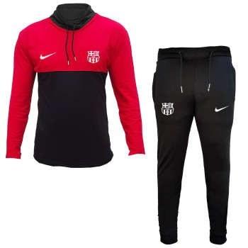 ست گرمکن و شلوار ورزشی مردانه طرح بارسلونا کد 2898 |