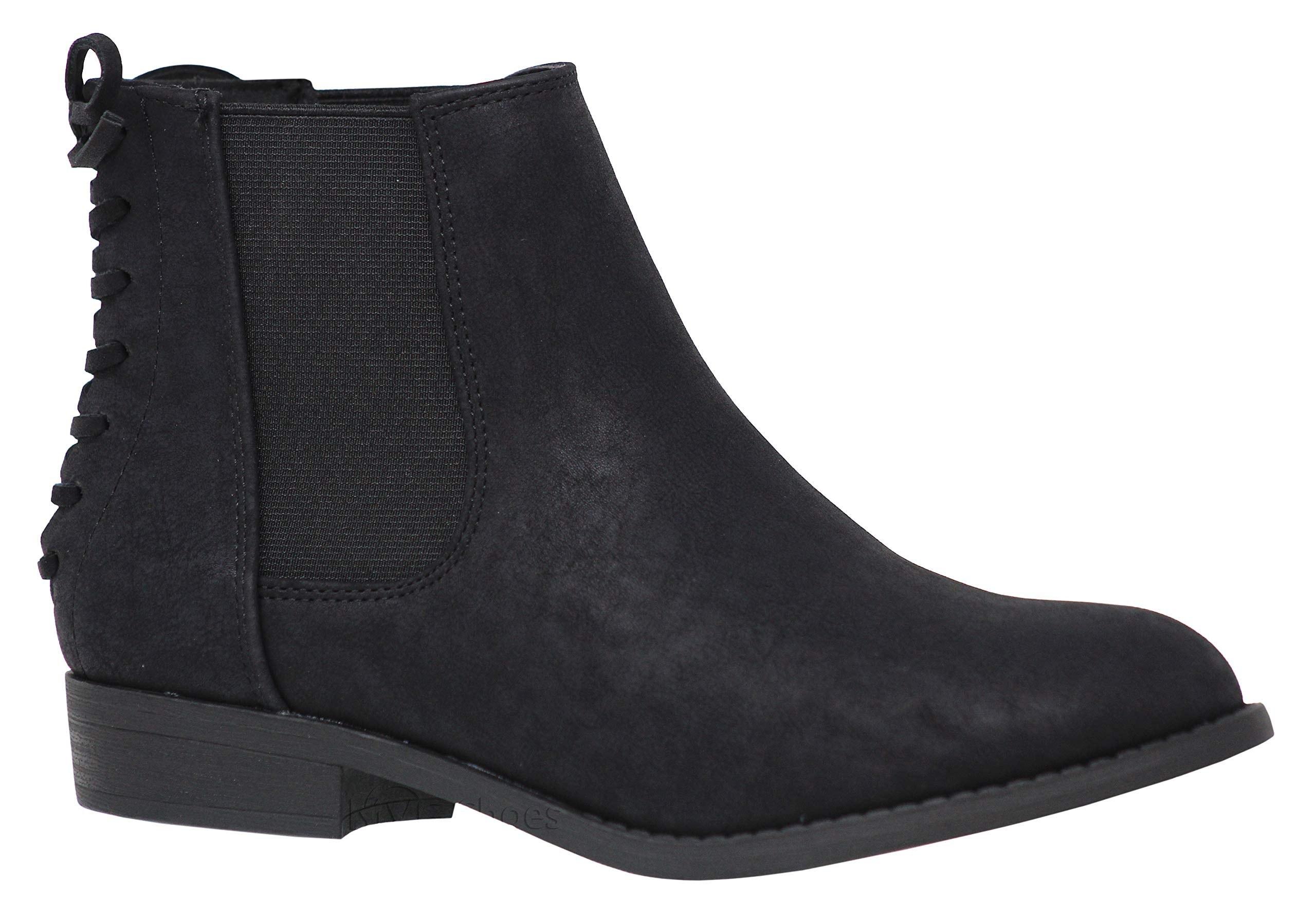 LIURUIJIA Womens Elastic Short Rain Boots Waterproof Low Heel Elastic Slip On Ankel Chelsea Booties LYDX-12268-28