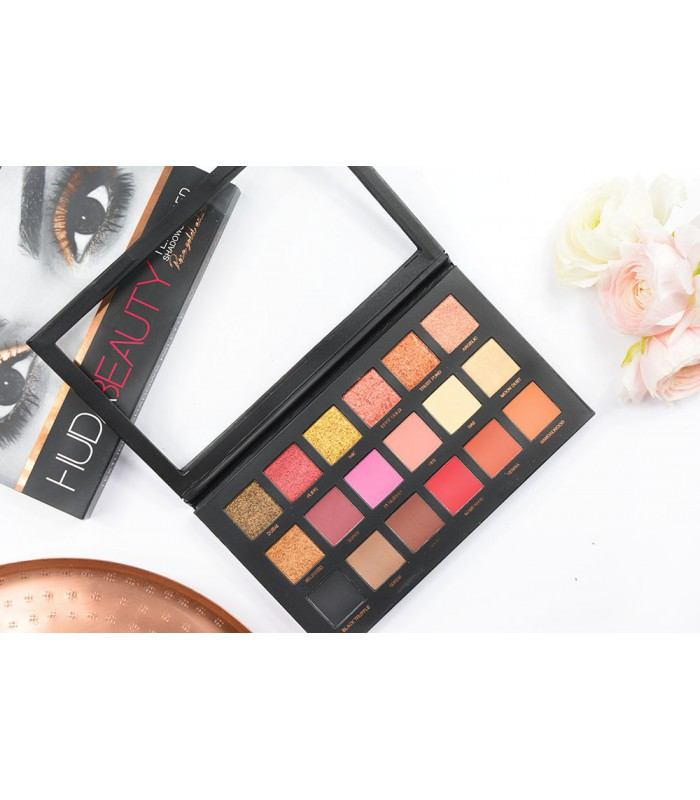 پالت سایه هدی بیوتی 18رنگ huda beauty rose gold edilton