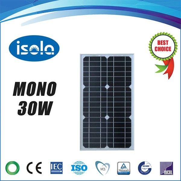 main images پنل خورشیدی 30 وات OSDA-ISOLA مونو کریستال